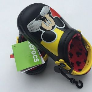 New with tags MICKEY MOUSE glow in the dark CROCS